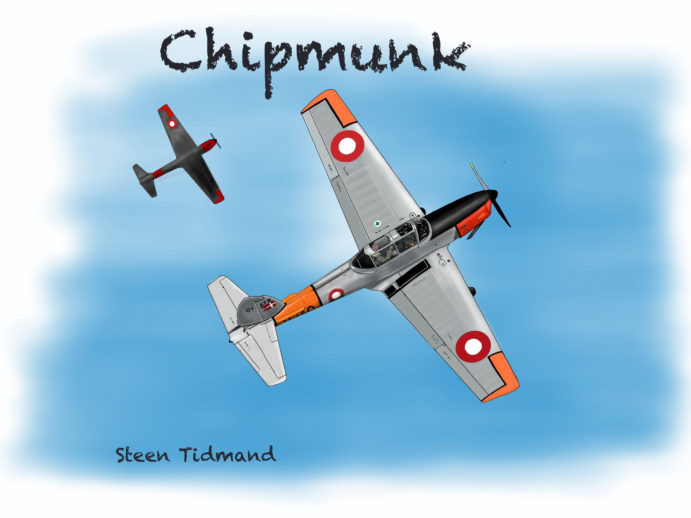 Former Royal Danish Airforce Chipmunk. Now OY-ALD  Ipdad draw...