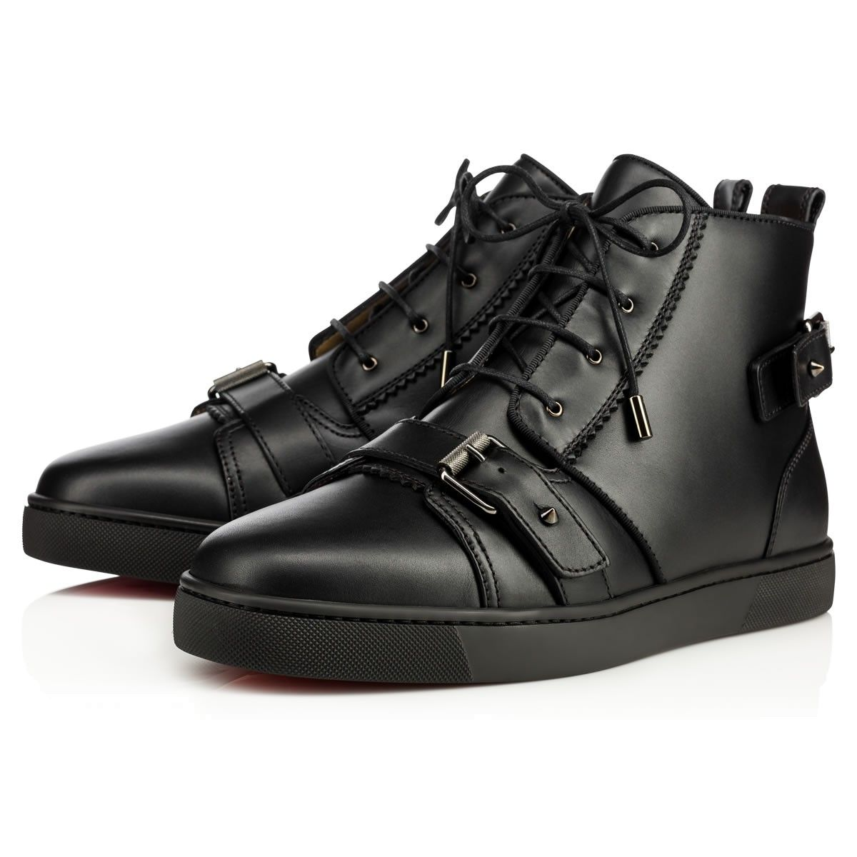 093af33a0b1 CHRISTIAN LOUBOUTIN Nono Strap Flat Black Leather - Men Shoes - Christian  Louboutin.  christianlouboutin  shoes