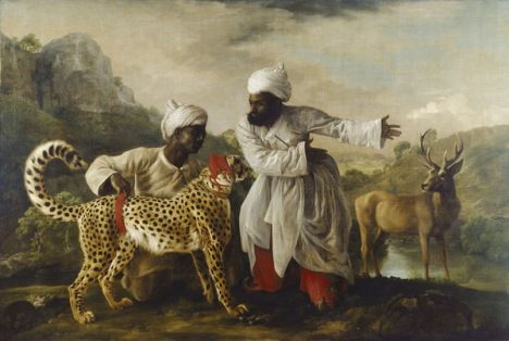 Geroge Stubbs Cheetah and Stag with Two Indians