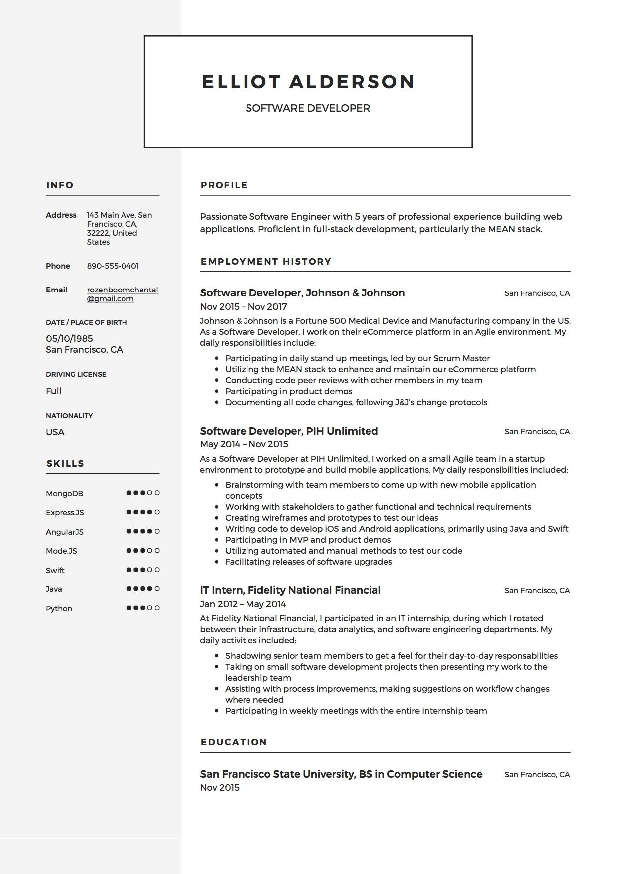 Guide Software Developer Resume [+12 Samples] Software
