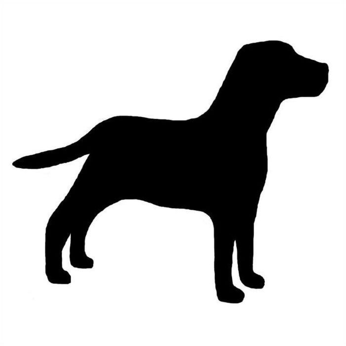 Lab Dog Profile Silhouette Window Decal Black On Clear Or White