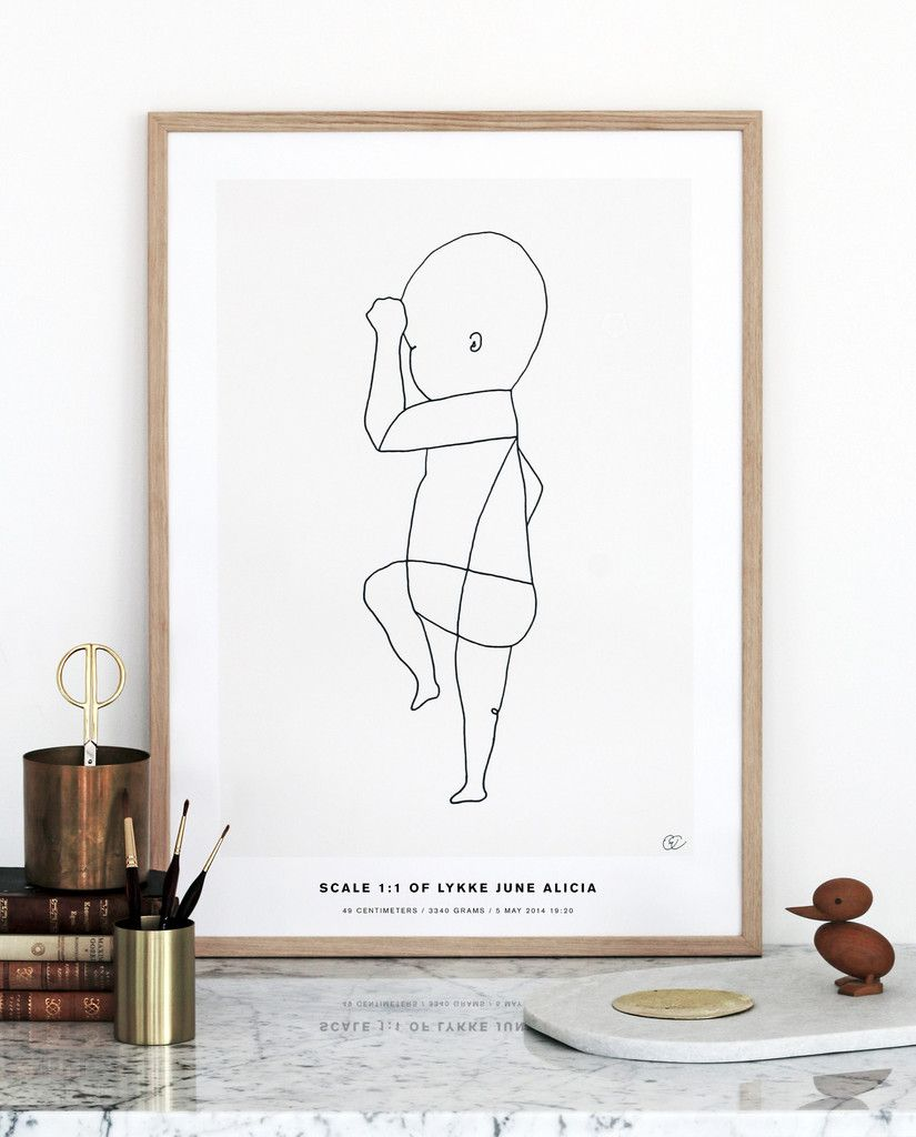 THE BIRTH POSTER: A 1:1 Scale Print Of Your Little One