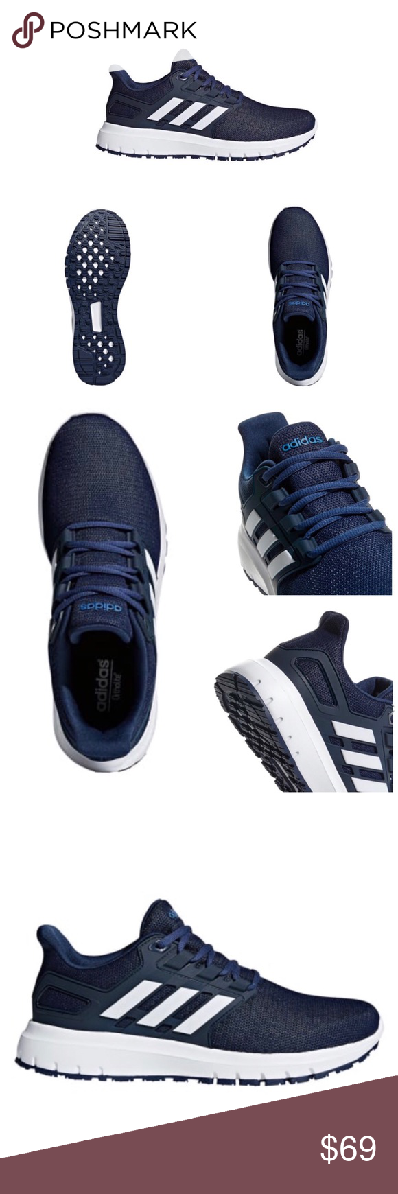 Adidas Energy Cloud 2 Wide Width Nwt Shoes Sneakers Adidas Blue Adidas Shoe Features