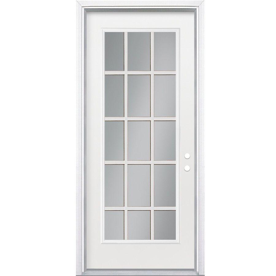 Wonderful Shop ReliaBilt Flush Insulating Core Left Hand Inswing Steel Primed Prehung Entry  Door (Common: X Actual
