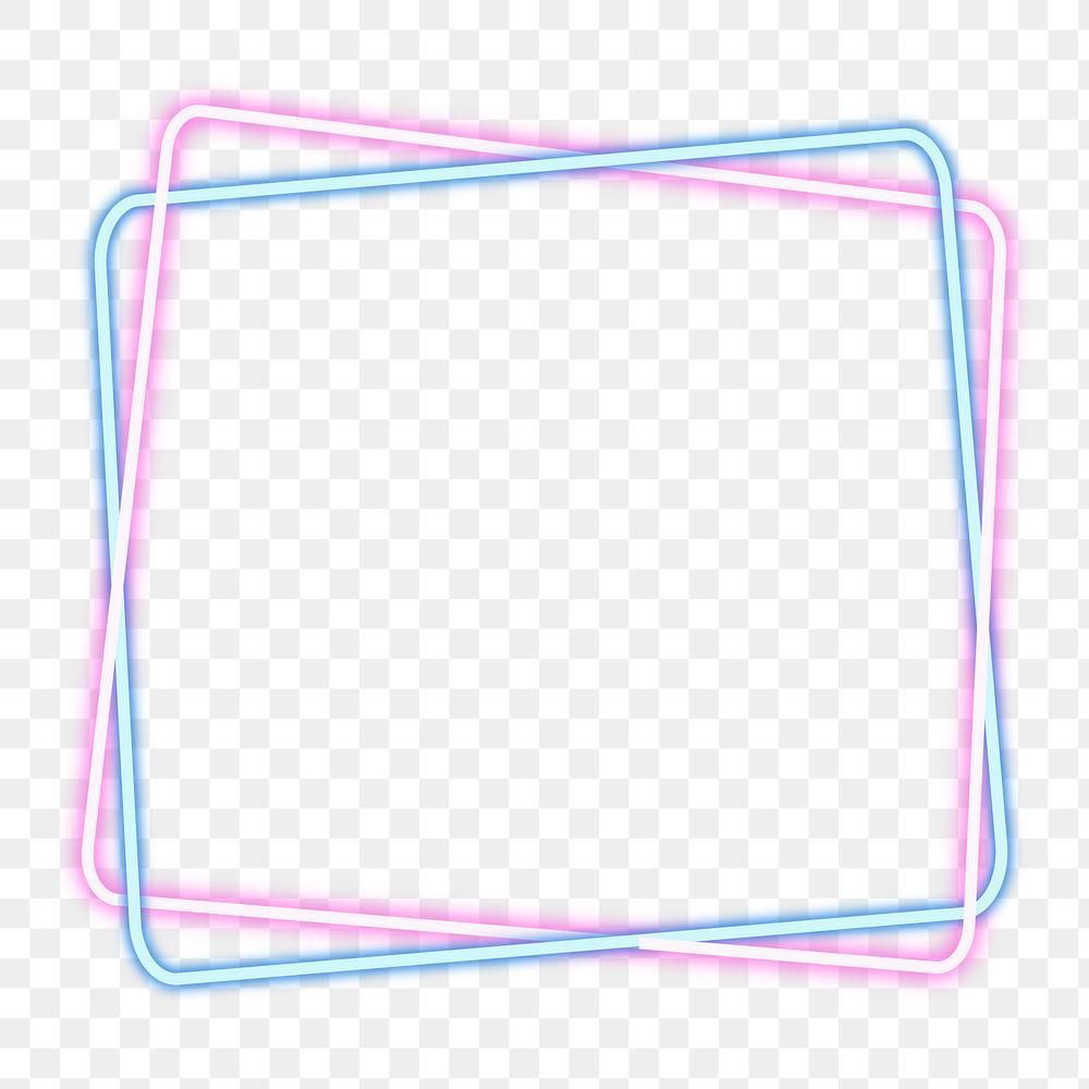Pink And Blue Squared Neon Frame Design Element Free Image By Rawpixel Com Aum Neon Light Wallpaper Frame Design Design Element