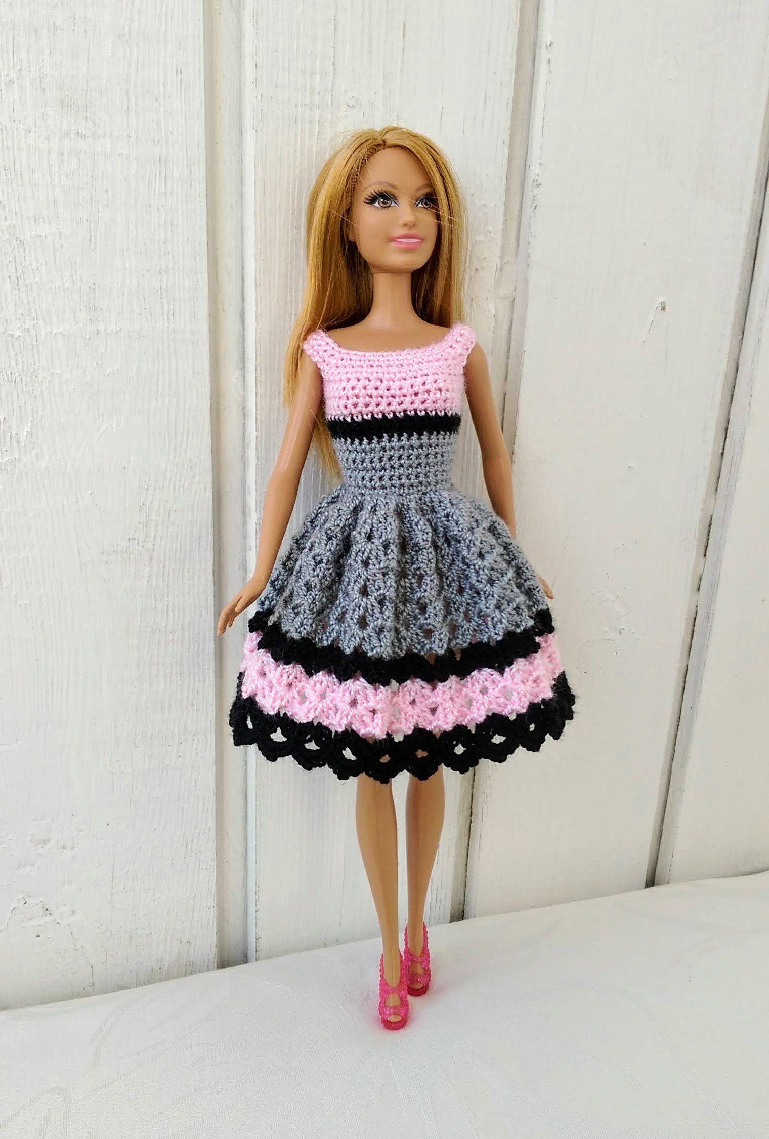 innovative design a5881 f2a94 Barbie clothes Barbie Crochet Dress for Barbie Doll ...
