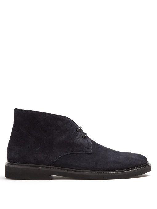 A.P.C. Grey Suede Lace-Up Boots 529HTZWw9c