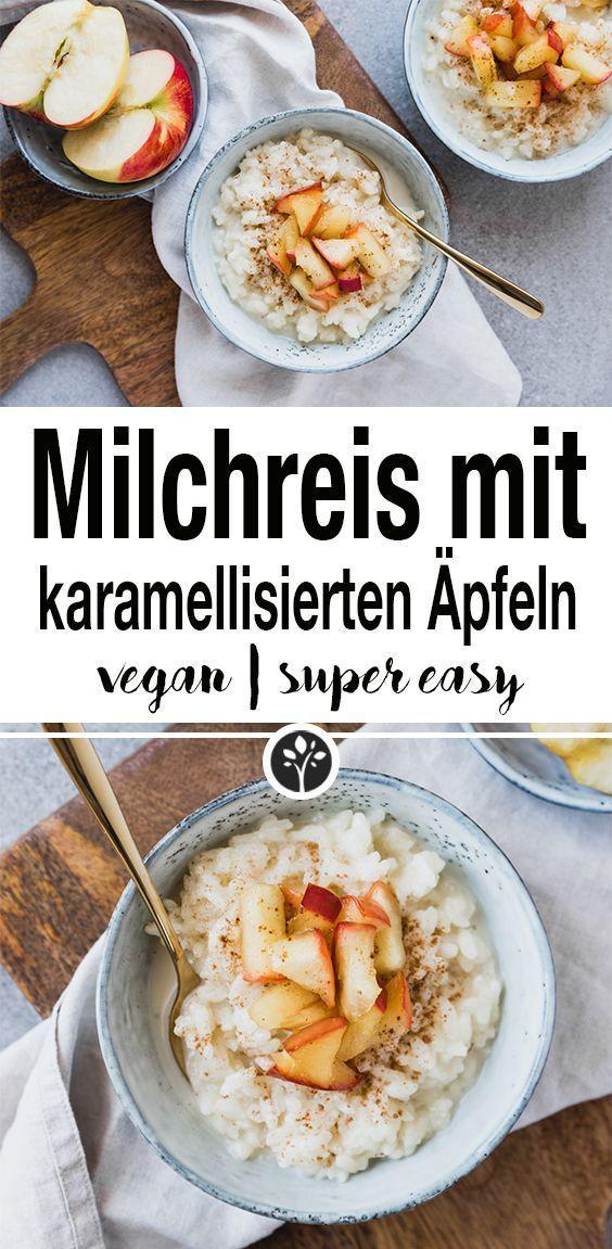 Milchreis mit karamellisierten Äpfeln. Ein perfektes Frühstück für die kalte... |