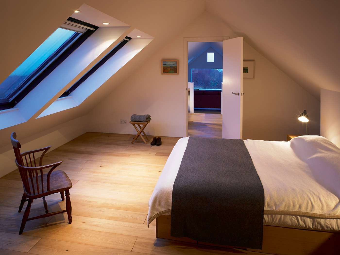 Long window over bed  a sustainable long house  homebuilding u renovating  longhouse
