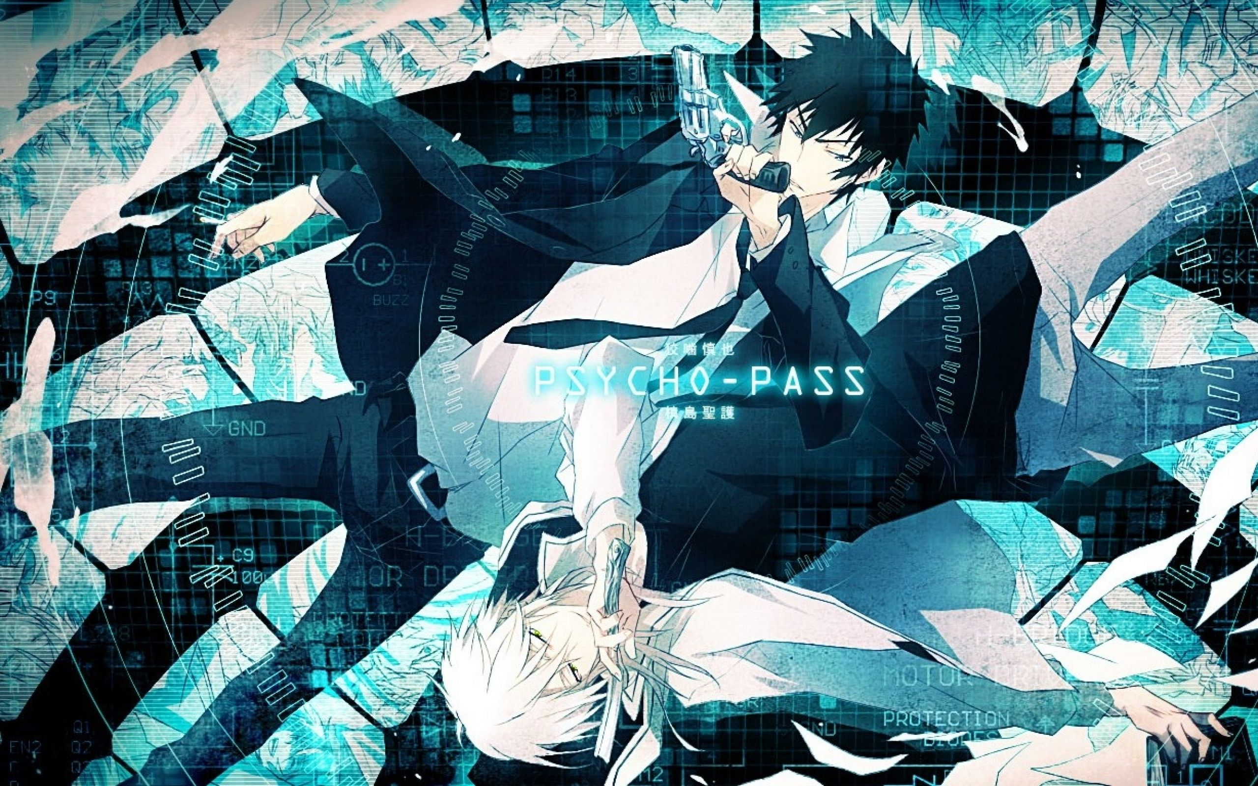 Shinya Kogami and Makishima Shogo Psycho Pass Anime