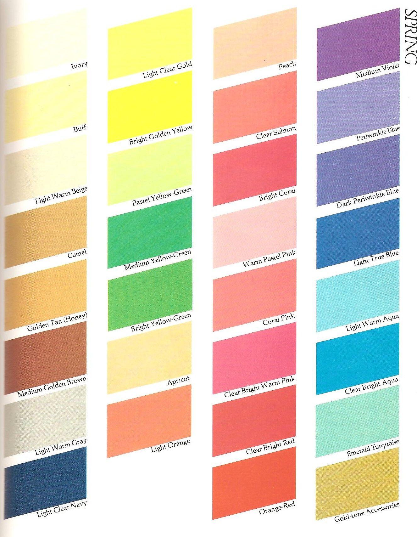 Color Me Beautiful Spring Tags Carole Jackson Harm Reduction