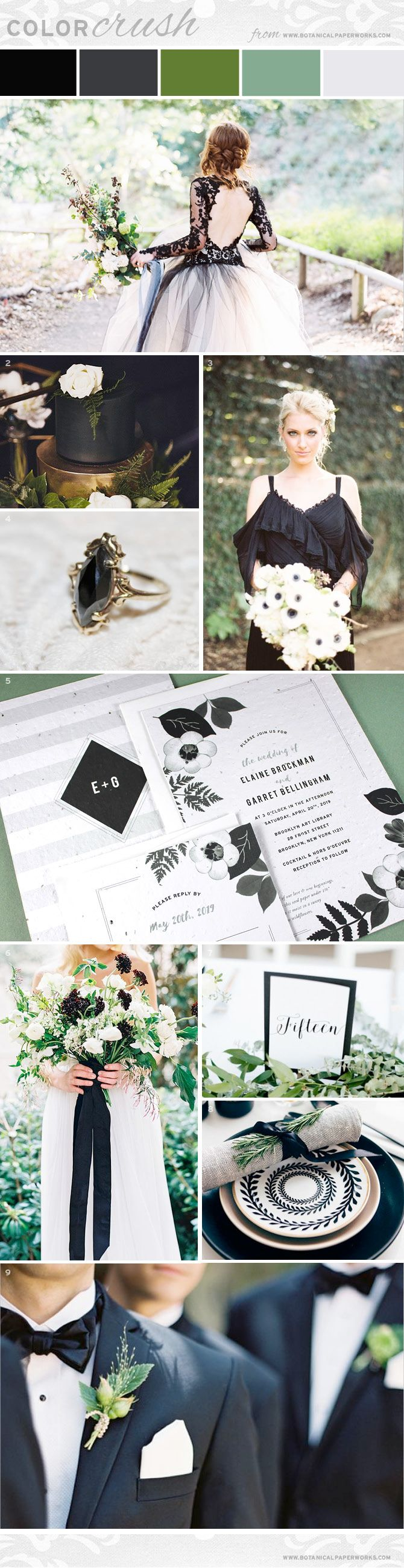 Take a look and get ideas for styling a black & white wedding with ...