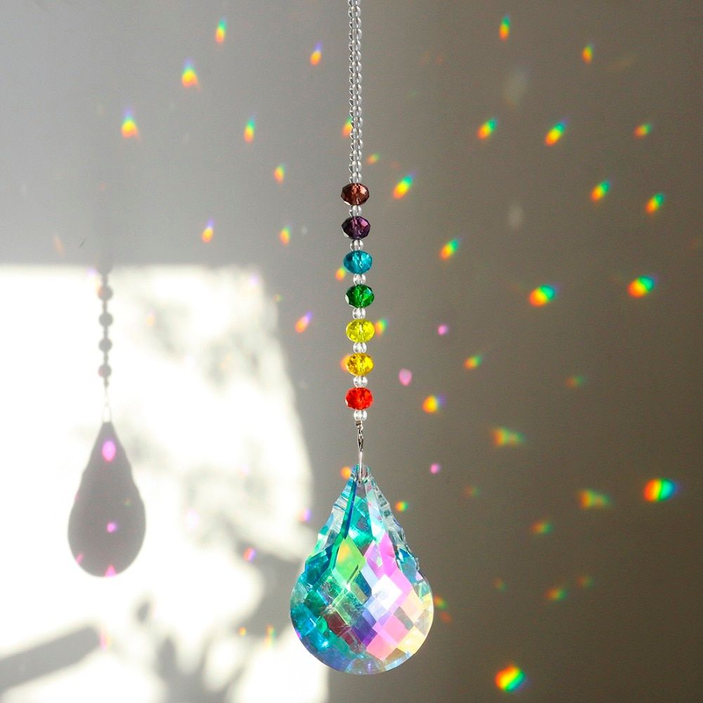 Clearance Sale Rainbow Suncatcher Hanging Fengshui Prisms Pendants Window Decor