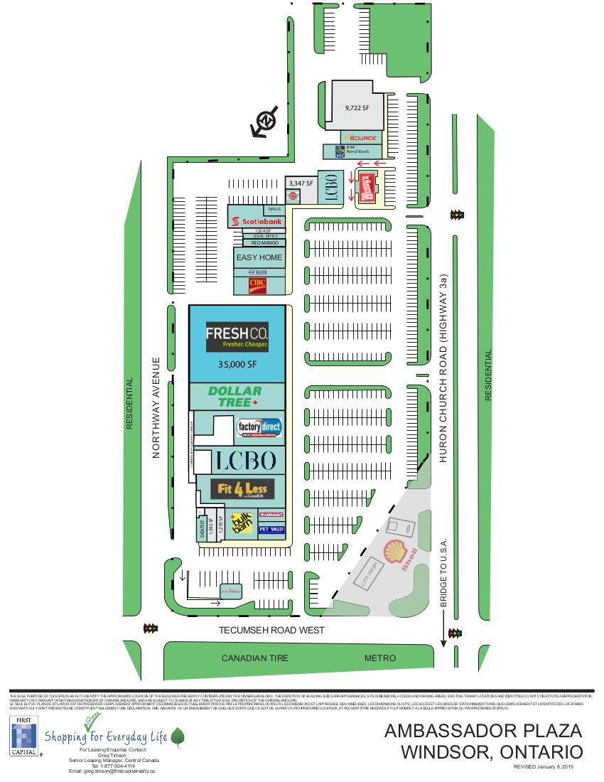 Ambassador Plaza shopping plan Ontario city, Shopping
