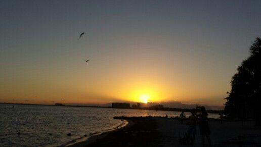 Beautiful Sunset at Key Biscayne, Florida