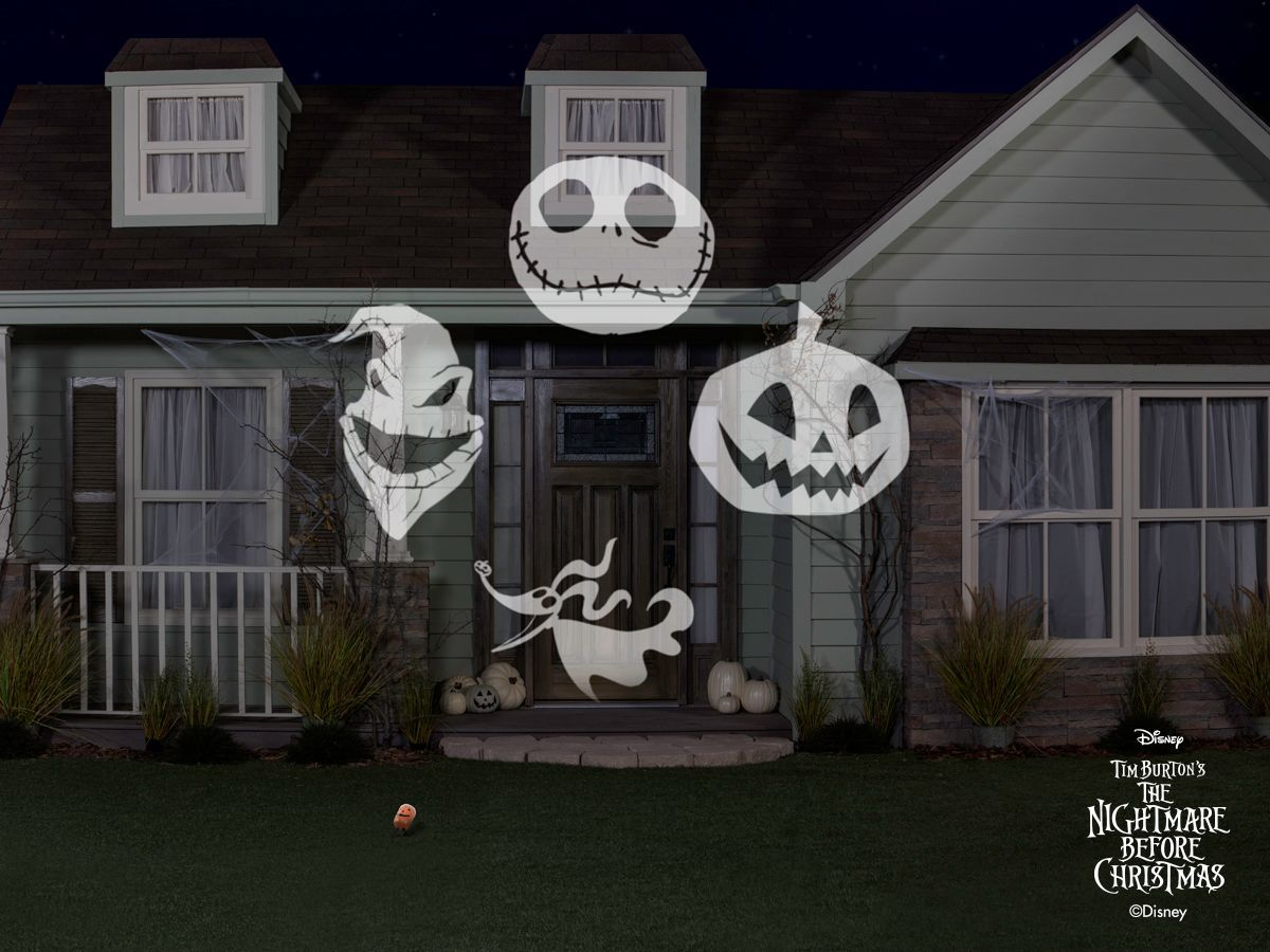 Disney Lightshow Nightmare Before Christmas projection