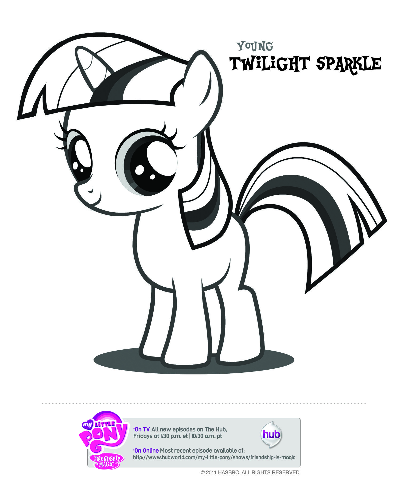 Mlp Young Twilight Sparkle My Little Pony Coloring My Little