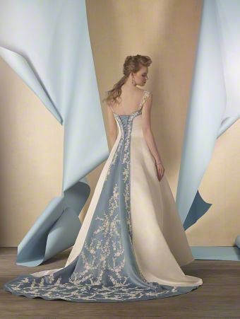 Alfred Angelo Bridal Style 2447 With A Beautiful Blue Insert Of
