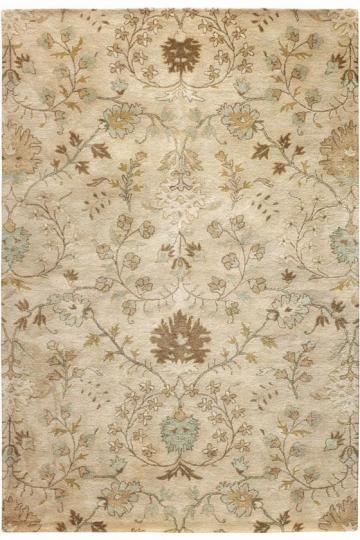 Soft Bronze Wheat And Robin S Egg Blue Area Rug