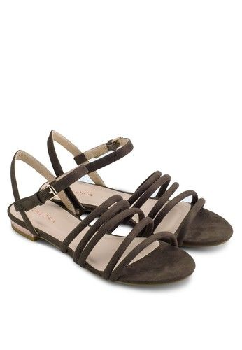 44c4bd0c9115f Padded Strappy Flat Sandals from ZALORA in brown 4