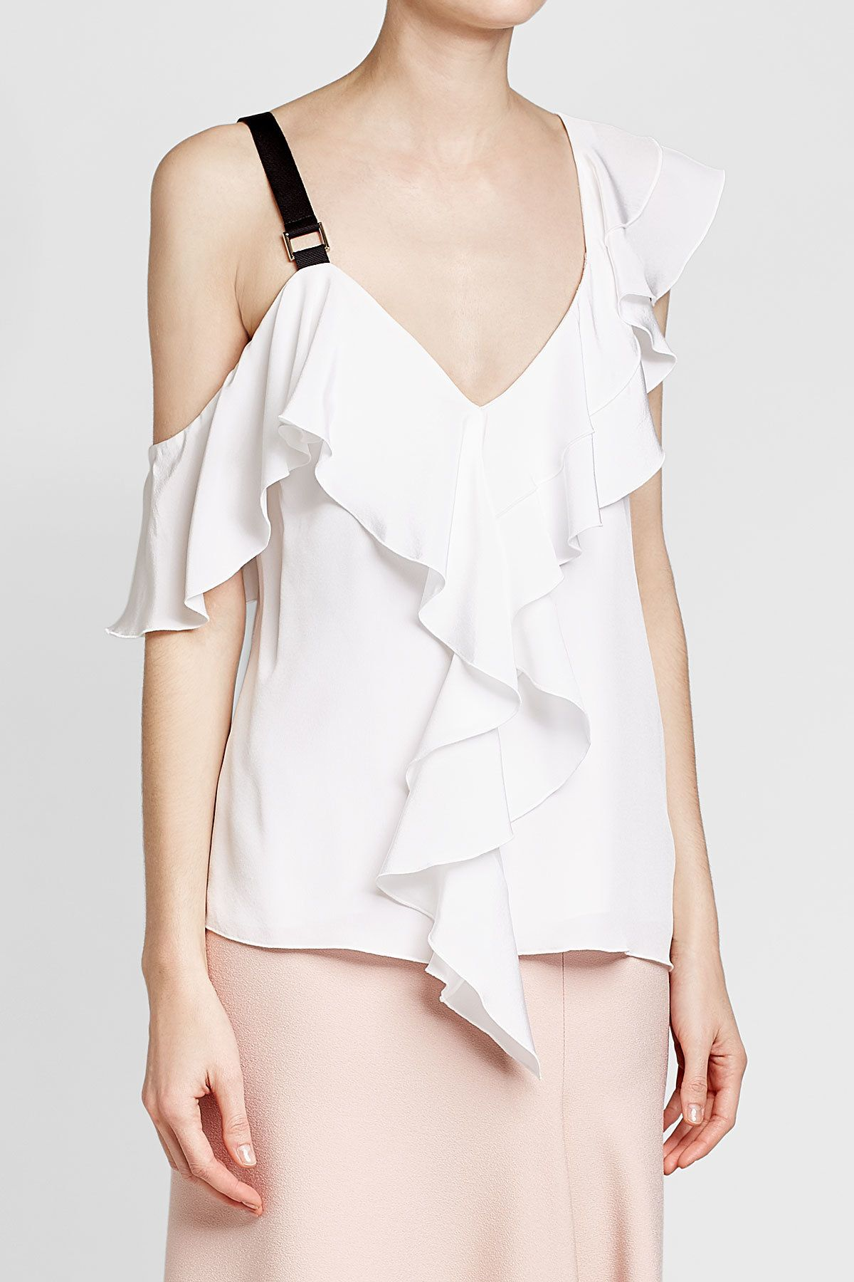 Best Place Cheap Price Silk ruffle top Proenza Schouler Big Sale Free Shipping Get Authentic Cheap Sale Amazon v7sOl