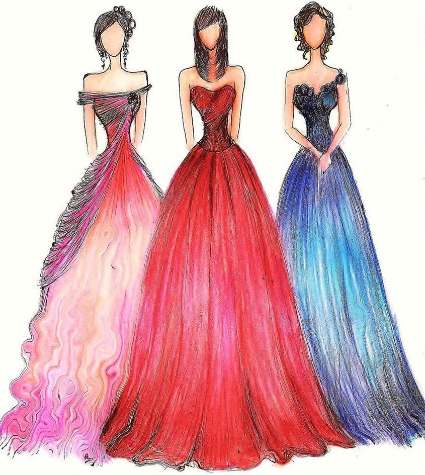 Formal Gowns II by Jaeiyemm014 on deviantART | Fashion illustration ...