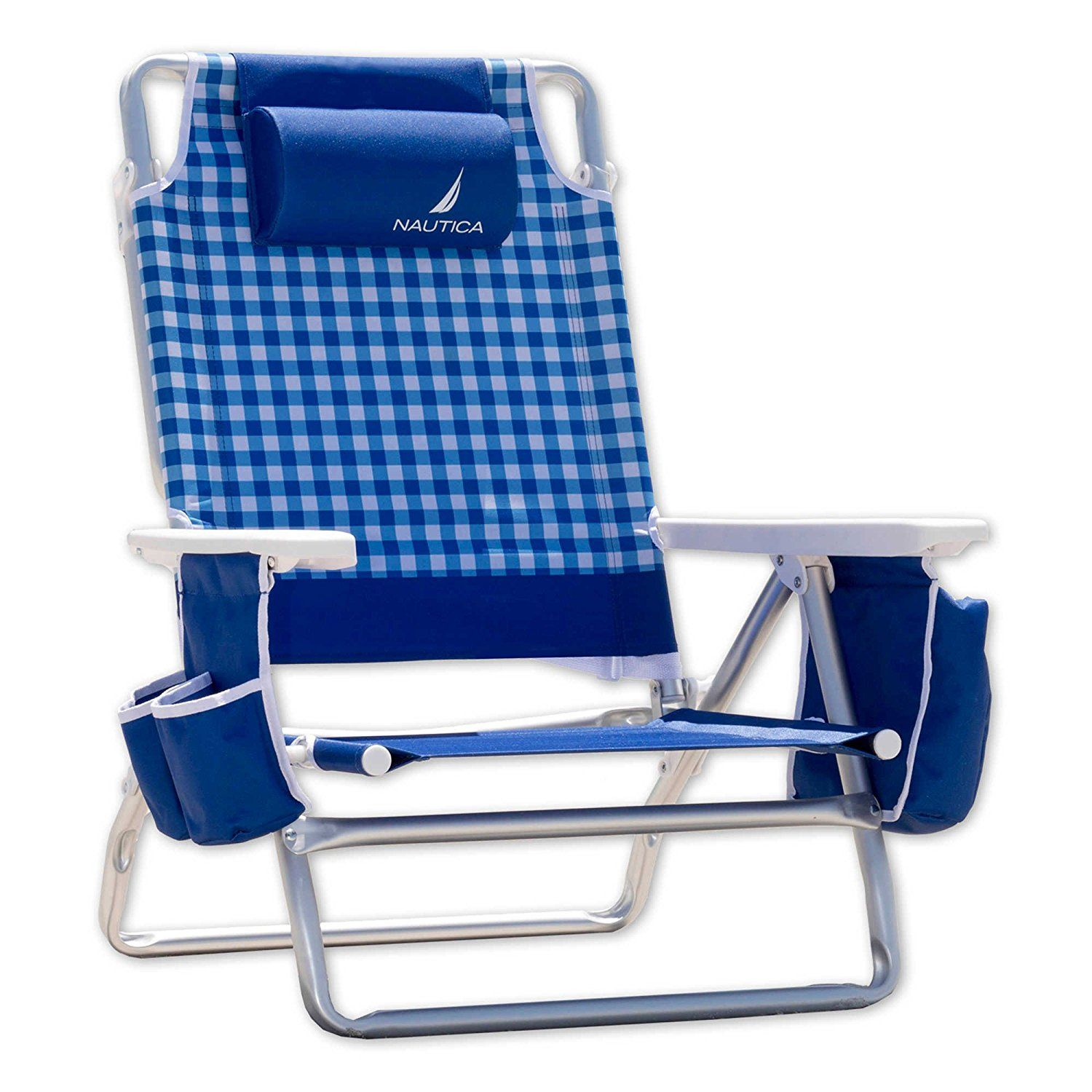 beach chair cup holder hotel chairs for sale nautica lightweight 5 position recliner folding backpack with see this great product is an affiliate link and i receive a