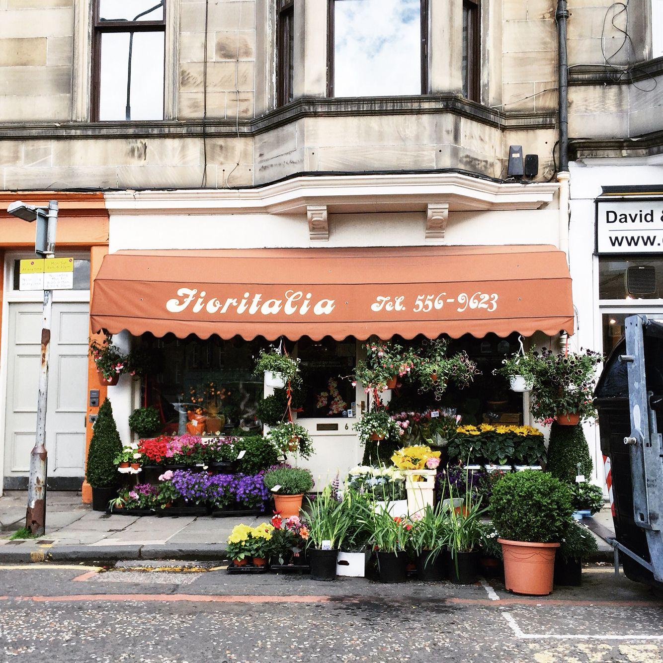 Fioritalia, flower shop in Edinburgh, Scotland (With