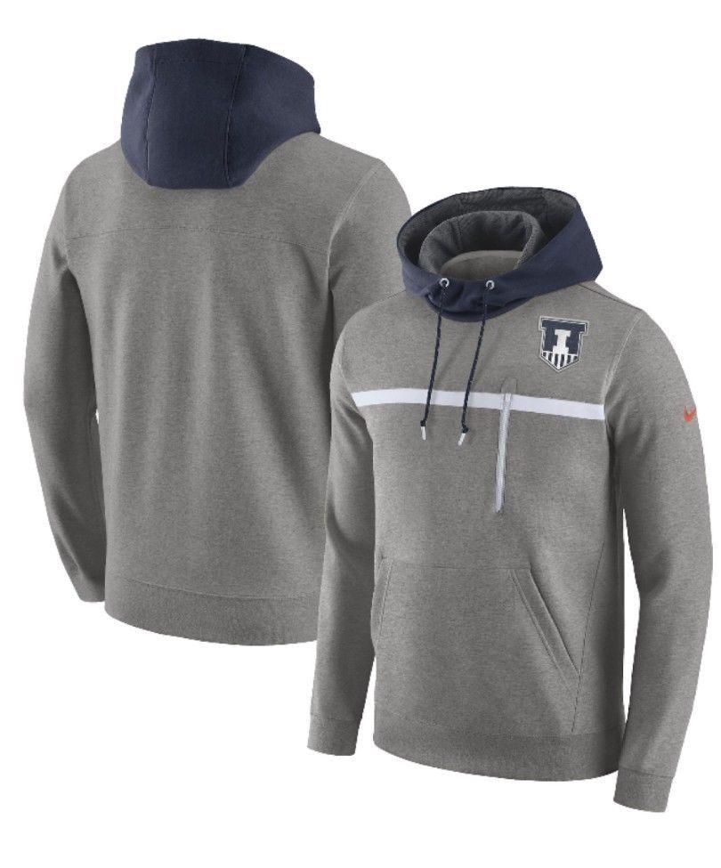 Nike Men S Illinois Fighting Illini Pullover Hoodie Sweatshirt Top Size Xl New Nike Illinoisfightingillini Hoodies Pullover Hoodie Team Sports Apparel [ 975 x 810 Pixel ]