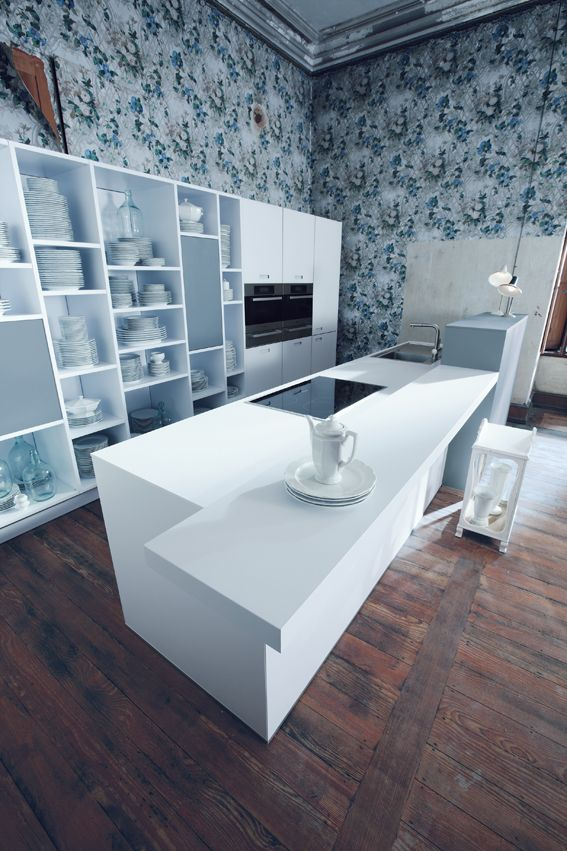 Next 125 kitchen - Polaris white matt! #schuller #butlerinteriors