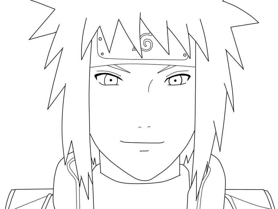 Minato smile lineart by sabbaru pinterest for Jiraiya coloring pages