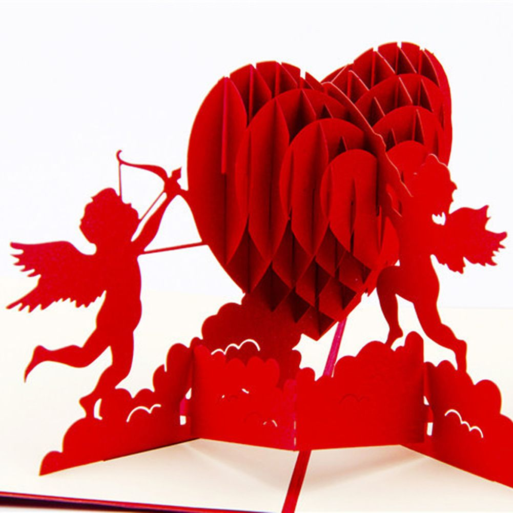 3d pop up foldable cut paper greeting cards creative handmade love 3d pop up foldable cut paper greeting cards creative handmade love cupid post cards valentines wedding m4hsunfo
