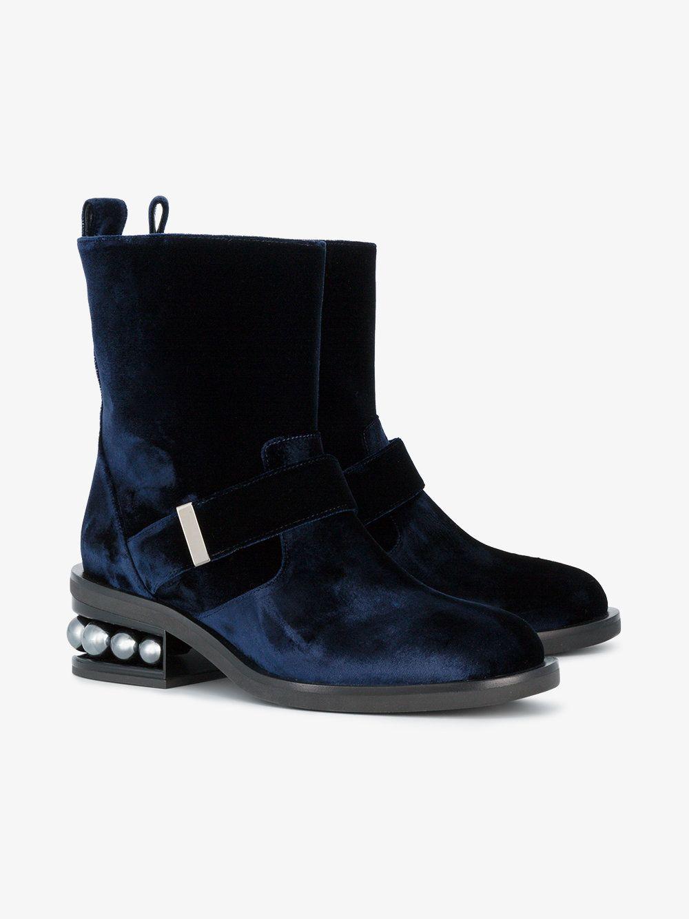 Nicholas Kirkwood Velvet Casati Pearl Boots yCsXU
