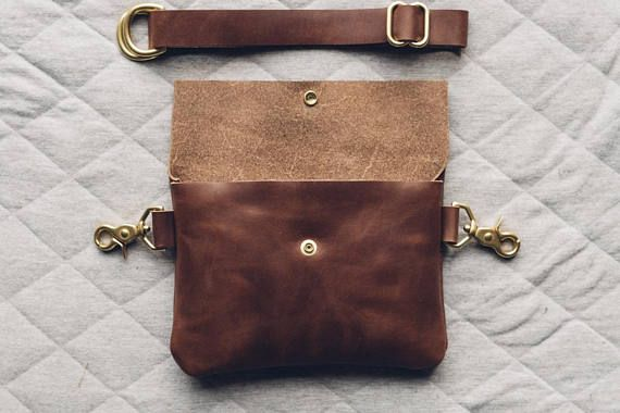 classic hip bag in brown / leather fanny pack / vegetable #bagsdesigner