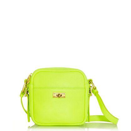 neon J.Crew bag