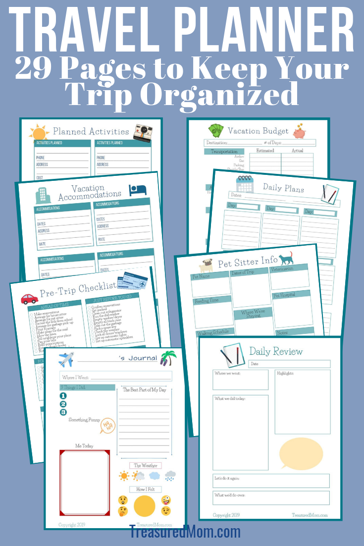 A Beautiful Vacation Planner - {29 Pages}