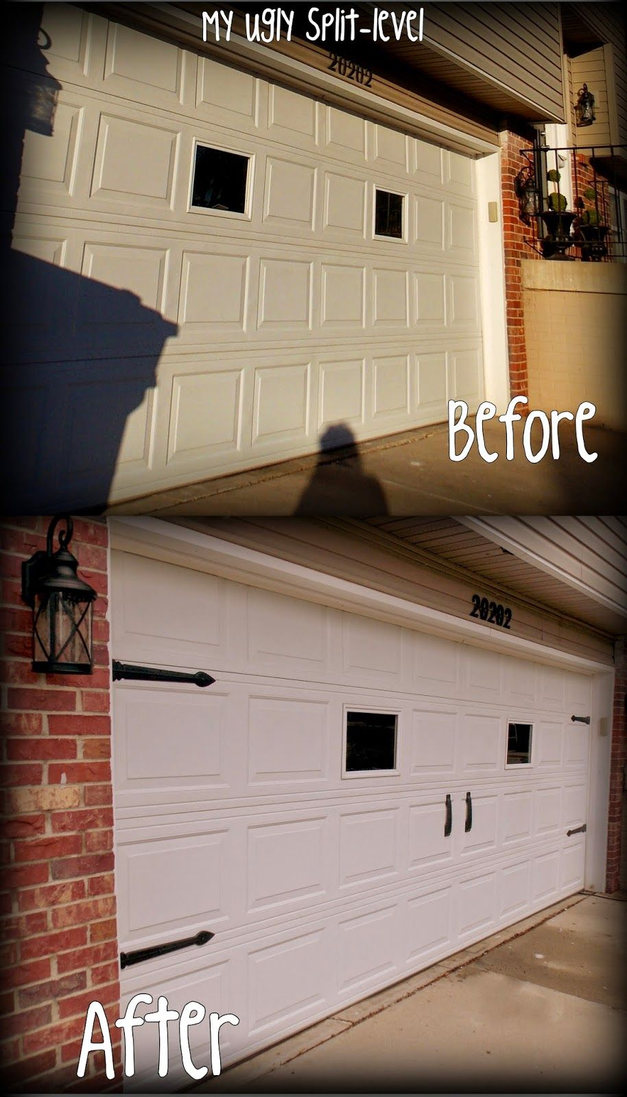 Add a garage to my house - My Ugly Split Level Inexpensive Curb Appeal Carriage House Garage