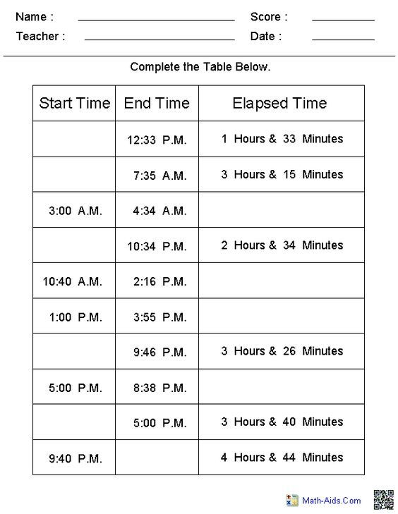 Time Worksheets | Time Worksheets For Learning To Tell Time | Year