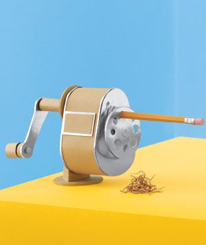 Pencil sharpener made of paper by Matthew Sporzynski for Real Simple