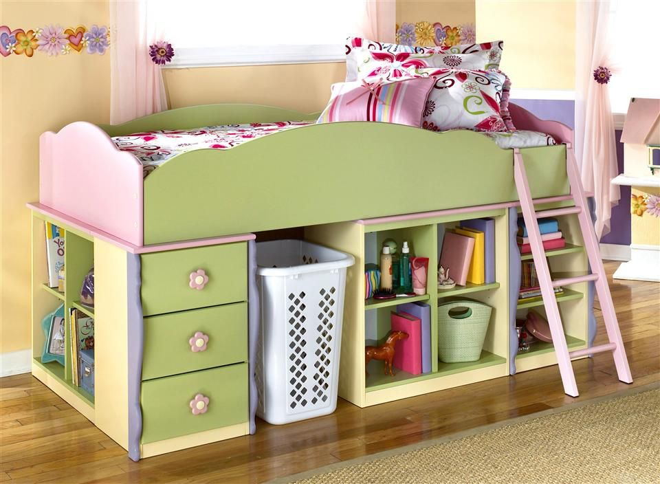 Twin Loft Bed Set Bin Storage - Pinned for Kidfolio, the parenting mobile app that makes sharing a snap. #kids #storage