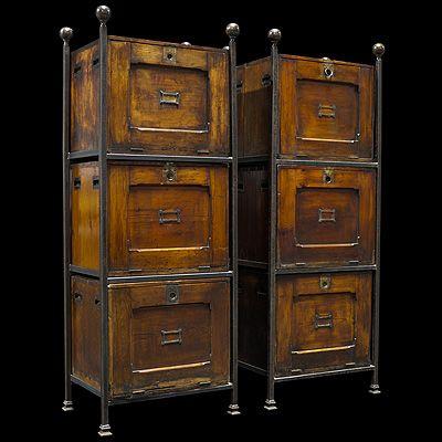 Vintage Metal File Cabinets - Industrial Office / Vintage ...