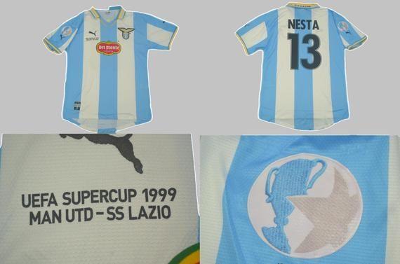 Lazio roma home 1999 2000eurosupercup finalplayer:nestashipment with tracking number