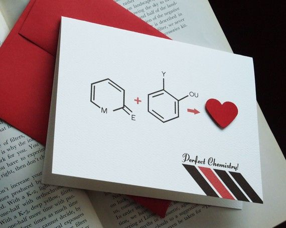 Geek out this VDay with this card – Chemistry Valentines Day Card