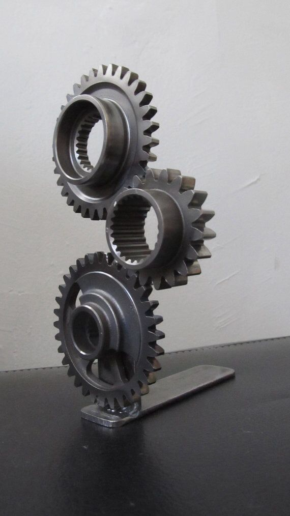 gear sculpture i love