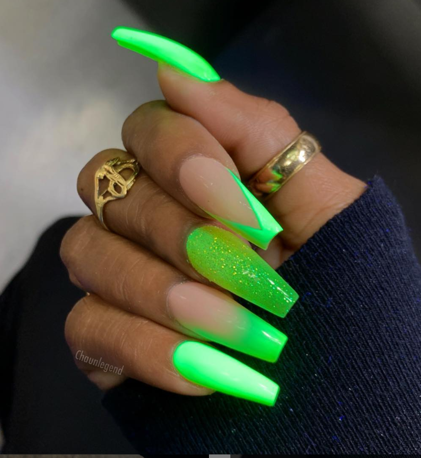 82 Trendy Acrylic Coffin Nails Design For Long Nails For Summer Page 58 Of 81 Latest Fashion Trends For Woman Neon Green Nails Green Acrylic Nails Coffin Nails Designs