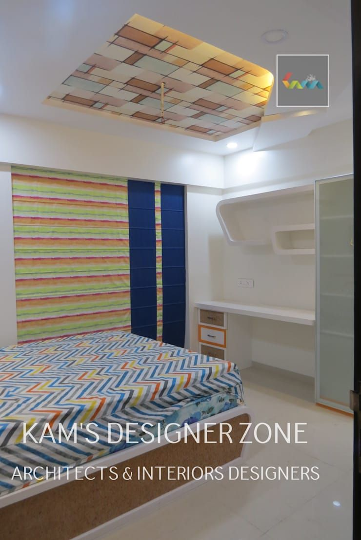Home Interior Design For PREETI AGARWAL: Modern Bedroom By KAMu0027S DESIGNER  ZONE