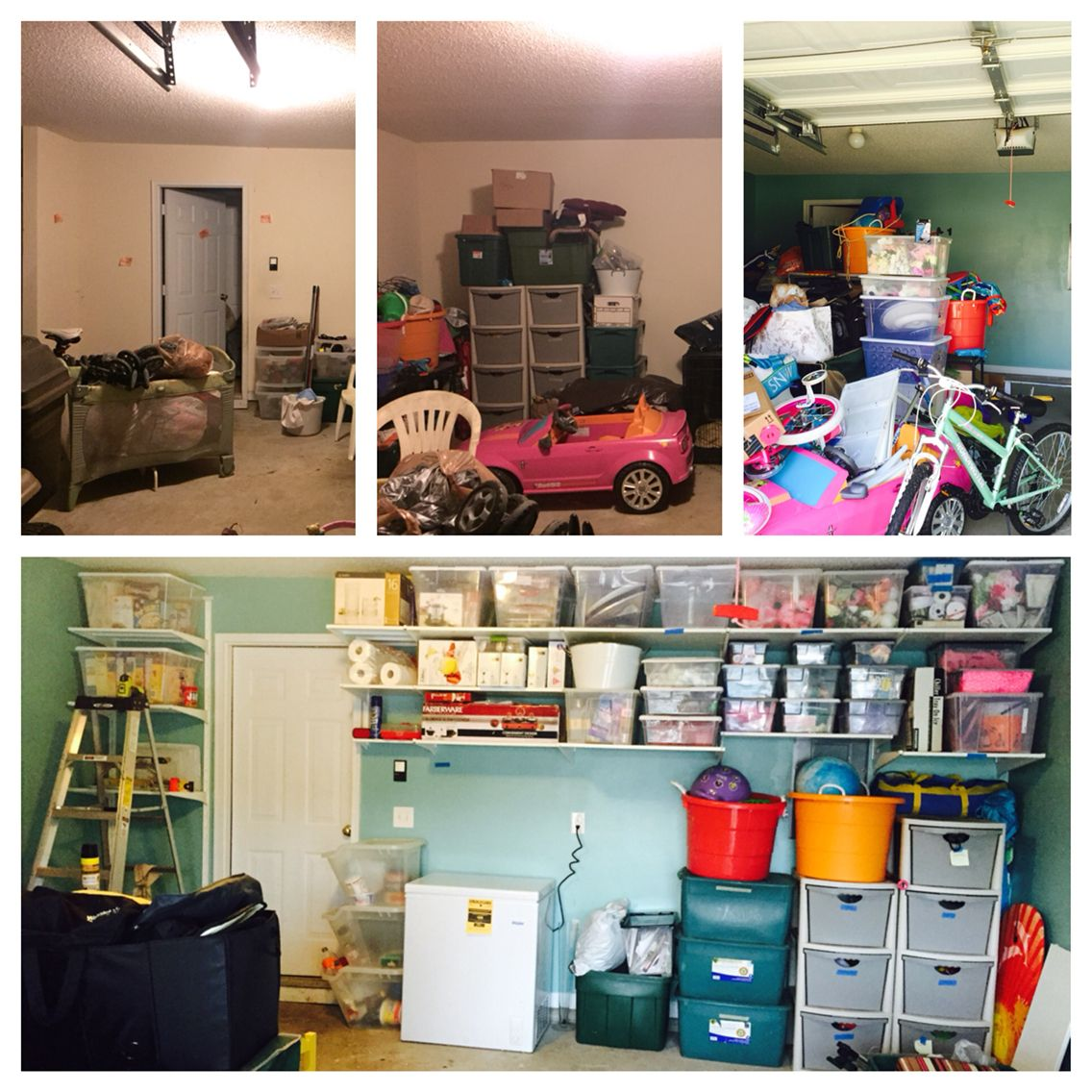 Garage Makeover- Wall 1- Paint And IKEA Algot System
