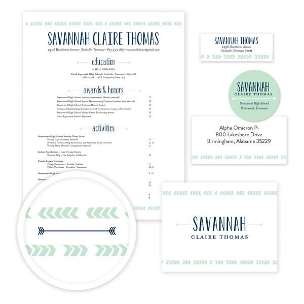 Boho Chic Sorority Packet    Our complete sorority packets include - cover letter for mailing resume