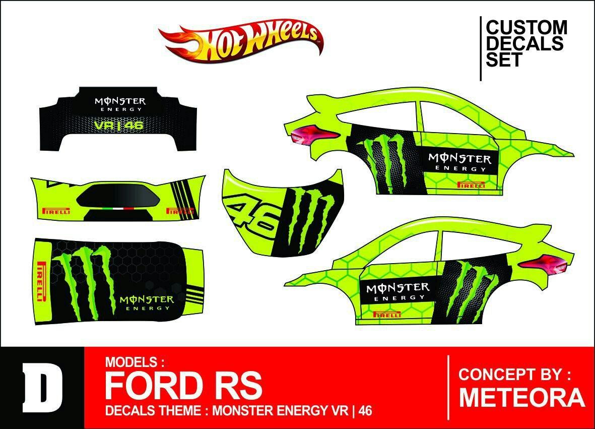 Ford Rs Vr 46 Monster Energy Decals Custom Desain [ 851 x 1181 Pixel ]