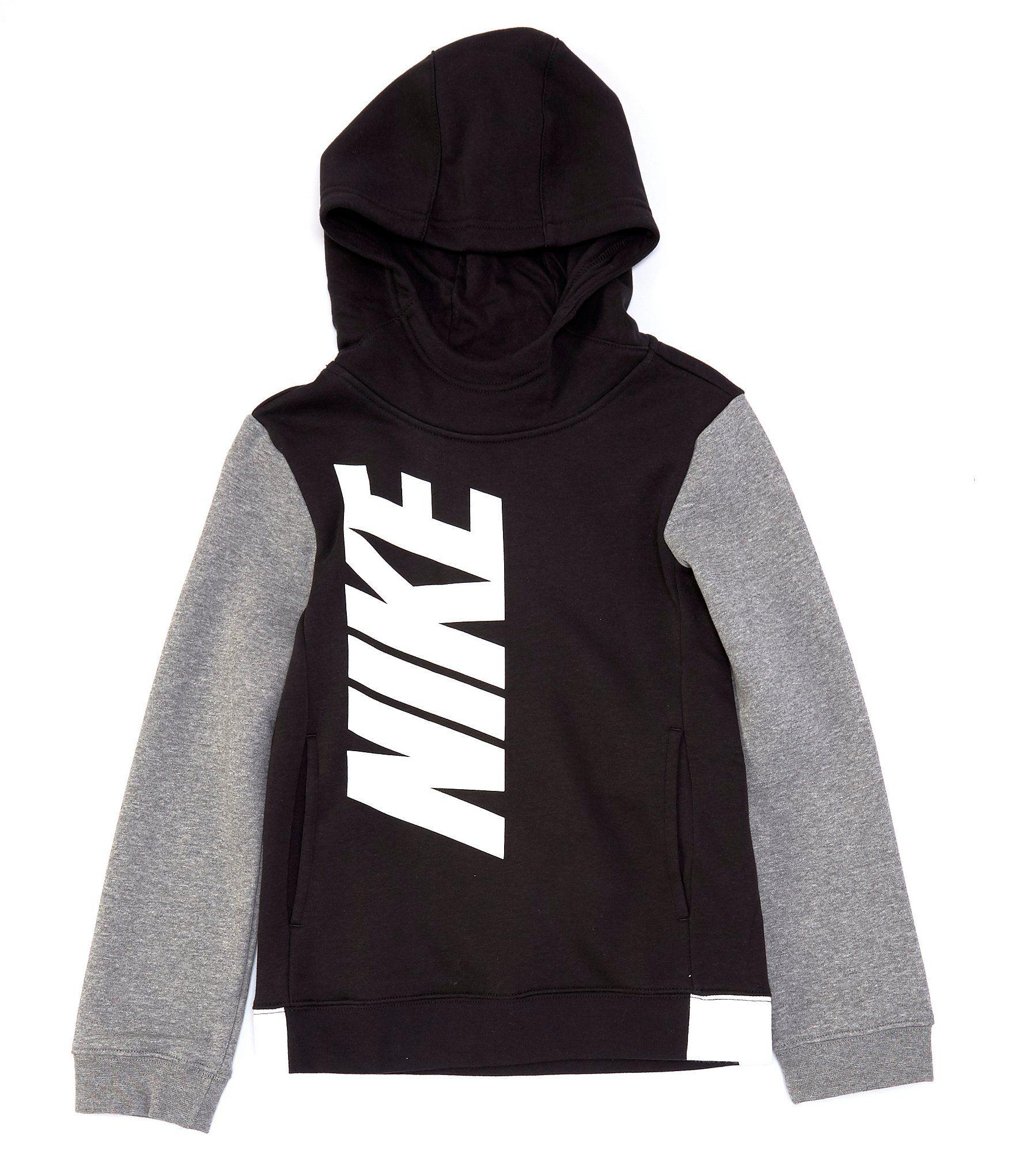 Nike Big Boys 8 20 Colorblock Core Amplify Pullover Hoodie